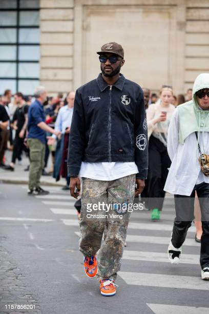 Virgil Abloh is seen outside Celine during Paris Fashion Week - Menswear Spring/Summer 2020 on June 23, 2019 in Paris, France.