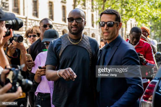 Virgil Abloh is seen outside Dior Homme on day five of Paris Fashion Week Menswear SS19 on June 23 2018 in Paris France