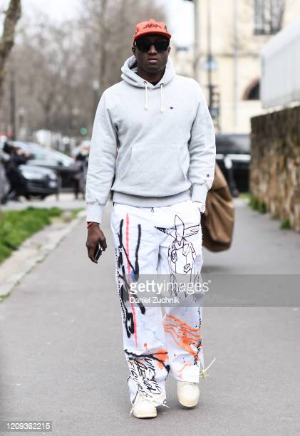 Virgil Abloh is seen outside the Loewe show during Paris Fashion Week: AW20 on February 28, 2020 in Paris, France.
