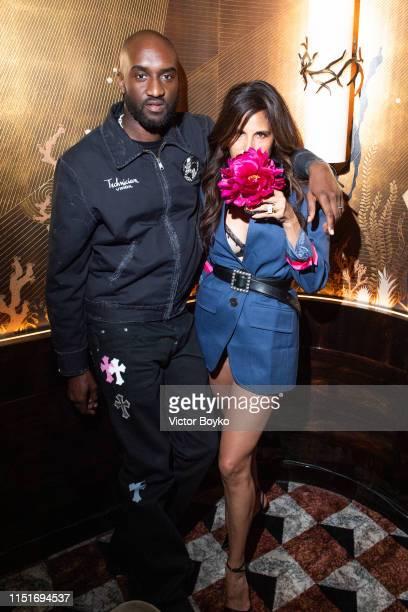 Virgil Abloh Laurie Lynn Stark attend the cocktail party hosted by Chrome Hearts X Jordan Barrett at La Maison Du Caviar on June 22 2019 in Paris...