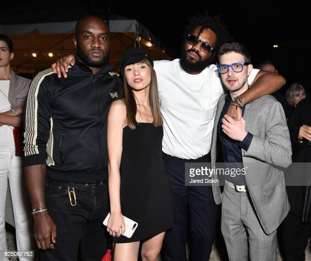 Virgil Abloh Leanna Jacobs Maxwell Osborne and Alex Soros attend The 24th Annual Watermill Center Summer Benefit Auction at The Watermill Center on...