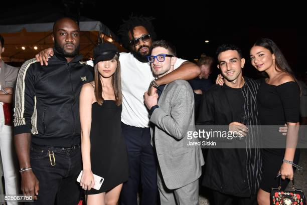 Virgil Abloh, Leanna Jacobs, Maxwell Osborne and Alex Soros, guest and Merlot Margurite attend The 24th Annual Watermill Center Summer Benefit &...