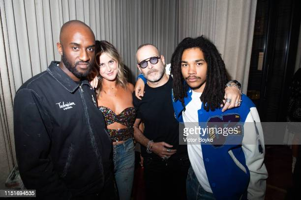 Virgil Abloh Stephanie Reynolds Thierry Lasry and Luka Sabbata ttend the cocktail party hosted by Chrome Hearts X Jordan Barrett at La Maison Du...