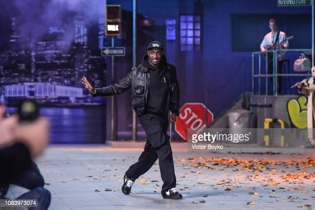 Virgil Abloh walks the runway during the Louis Vuitton Menswear Fall/Winter 2019-2020 show as part of Paris Fashion Week on January 17, 2019 in...