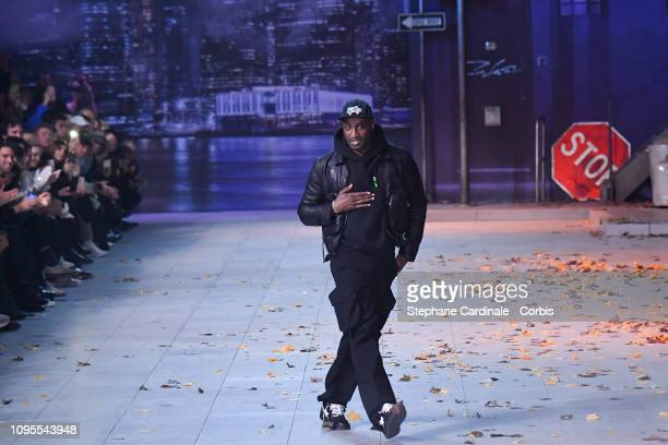 Virgil Abloh walks the runway during the Louis Vuitton Menswear Fall Winter 2019/2020 show as part of Paris Fashion Week on January 17, 2019 in...