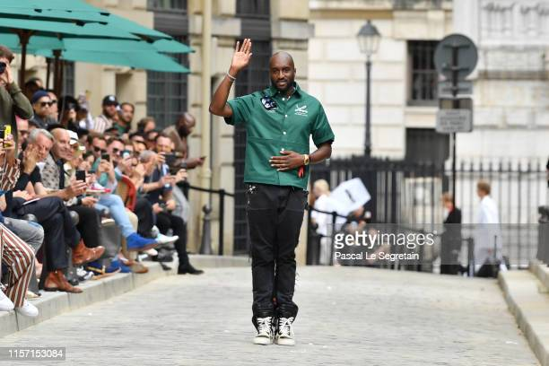 Virgil Abloh walks the runway during the Louis Vuitton Menswear Spring Summer 2020 show as part of Paris Fashion Week on June 20, 2019 in Paris,...