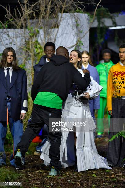Virgil Abloh walks the runway during the Off-White Menswear Fall/Winter 2019-2020 fashion show as part of Paris Fashion Week on January 16, 2019 in...