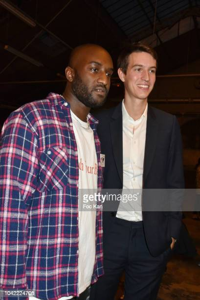 Virgil AblohÊand Alexandre Arnault attend the Off White show as part of Paris Fashion Week Womenswear Spring/Summer 2019 on September 27 2018 in...