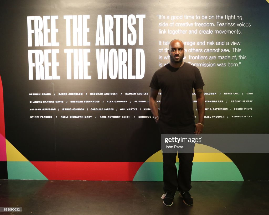 Virgil Albloh attends the VIP Preview of BACARDI, Swizz Beatz And The Dean Collection Bring NO COMMISSION Back To Miami To Celebrate 'Island Might' at Soho Studios on December 7, 2017 in Miami, Florida.