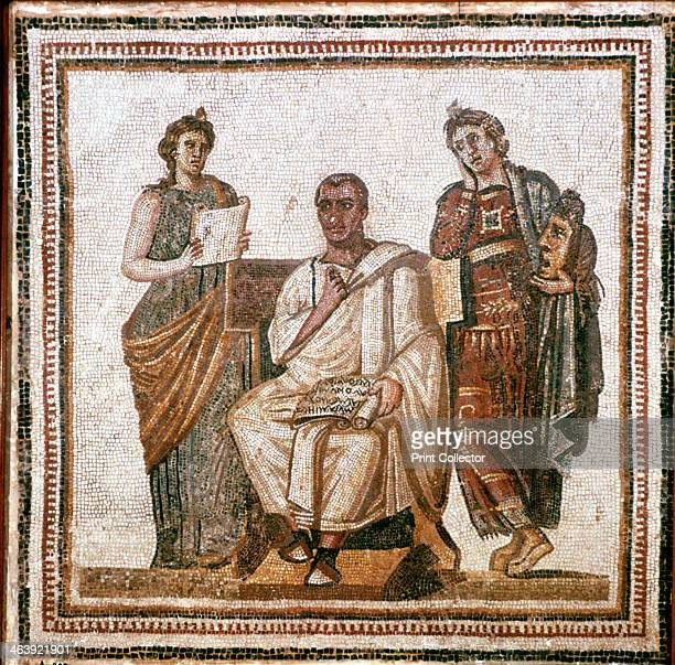Virgil and the Muses Roman mosaic from Sousse Tunisia 3rd century AD Located in the collection of the Bardo Museum Tunisia
