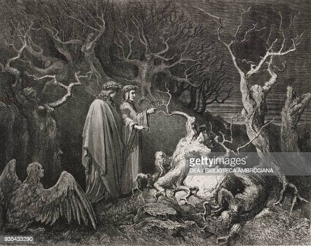 Virgil asks Dante to break a branch causing the plant to cry out and bleed Pier delle Vigne damned in the Woods of Suicide middle ring of the seventh...
