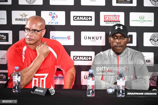 Virgil Hunter and Souleymane CISSOKHO during press conference ahead the fight against Ali Baghouz on December 15 2017 in BoulogneBillancourt France