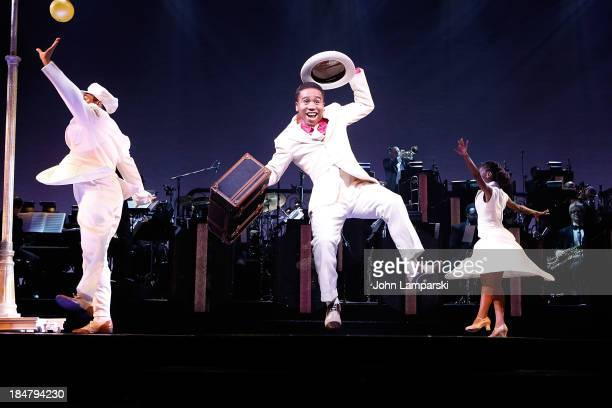 Virgil 'Lil O' Gadson and cast perform at the 'After Midnight' Broadway press preview at Brooks Atkinson Theatre on October 16 2013 in New York City