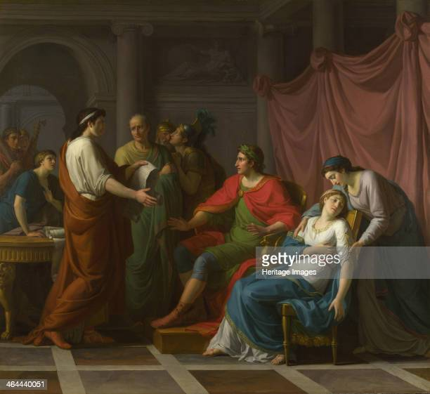 Virgil reading the Aeneid to Augustus and Octavia 1787 Found in the collection of the National Gallery London