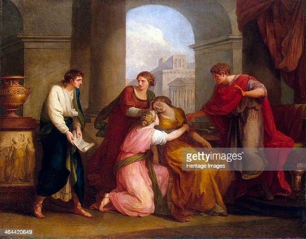 Virgil reading the Aeneid to Augustus and Octavia' 1788 Kauffmann Angelika Found in the collection of the State Hermitage St Petersburg
