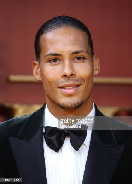 Virgil van Dijk attends The Lion King European Premiere at Leicester Square on July 14 2019 in London England