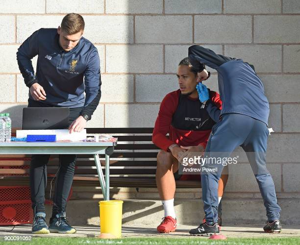 Virgil van Dijk new signing of Liverpool at Melwood Training Ground on December 31 2017 in Liverpool England