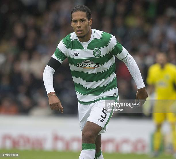 Virgil Van Dijk of Celtic at the Pre Season Friendly between Celtic and FK Dukla Praha at St Mirren Park on July 04 2015 in Paisley Scotland