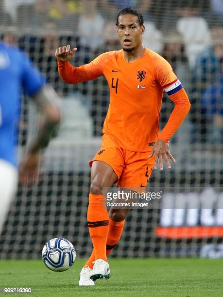 Virgil van Dijk of Holland during the International Friendly match between Italy v Holland at the Allianz Stadium on June 4 2018 in Turin Italy
