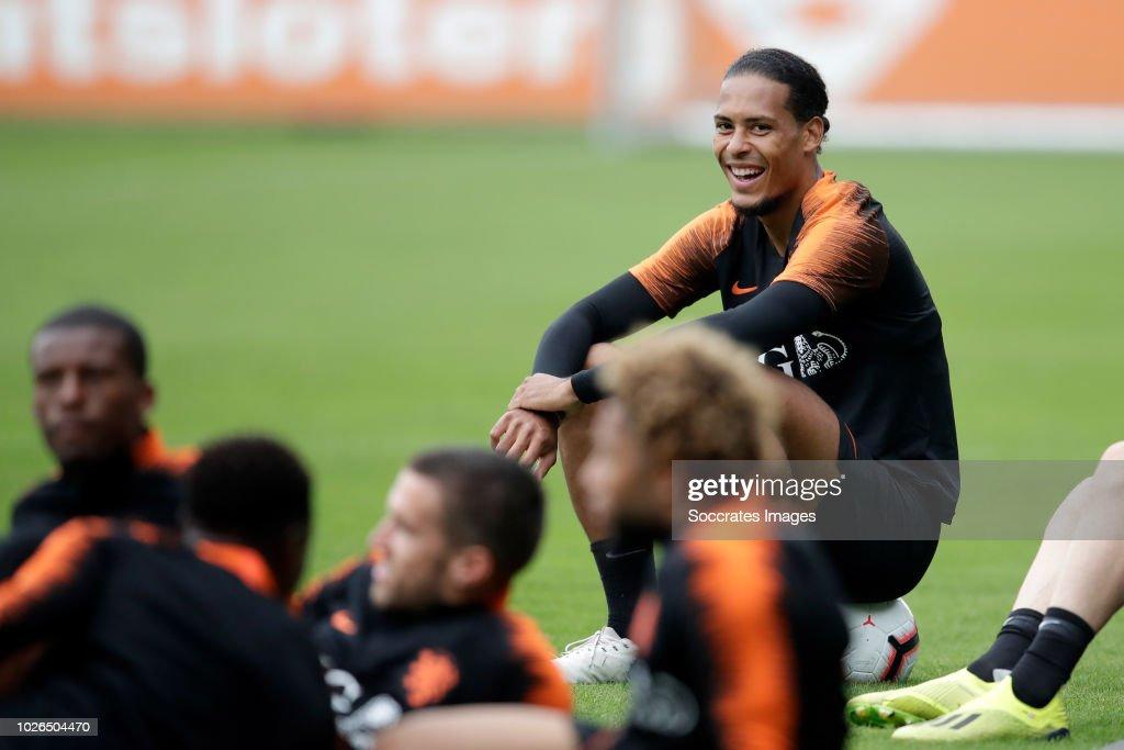 Virgil van Dijk of Holland during the Training Holland at the KNVB Campus on September 3, 2018 in Zeist Netherlands