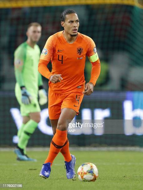 Virgil van Dijk of Holland during the UEFA EURO 2020 qualifier group C qualifying match between Belarus and The Netherlands at Dinamo stadium on...