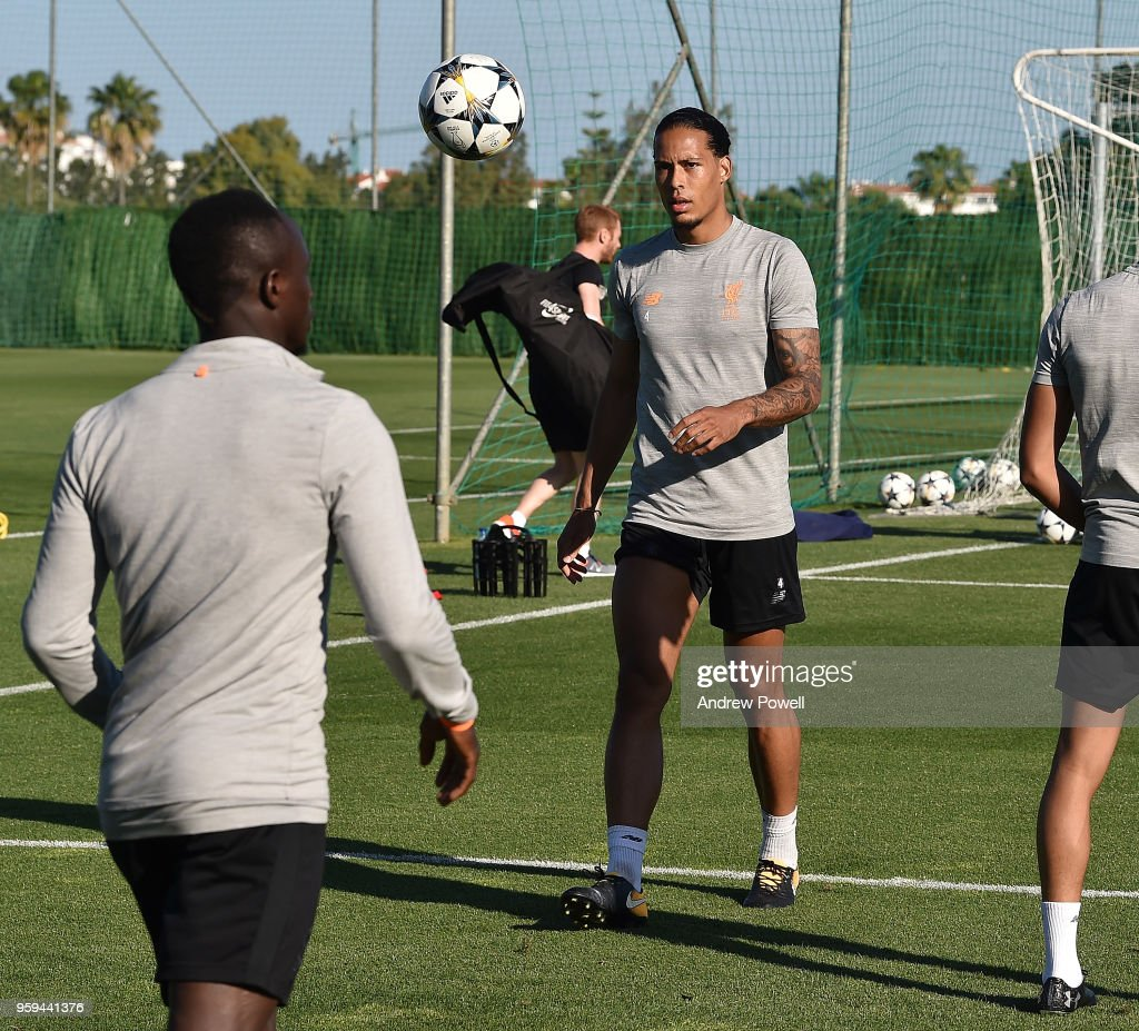Virgil van Dijk of Liverpool during a training session at Marbella Football Center on May 16, 2017 in San Pedro De Alcantara, Spain.