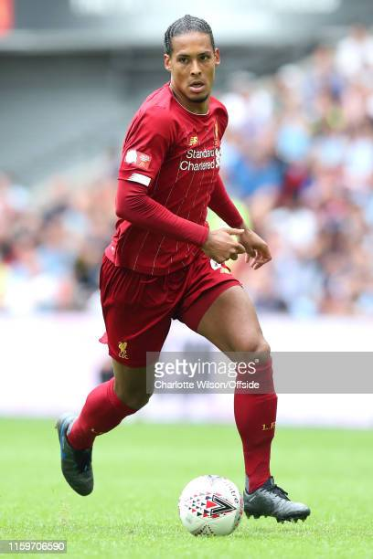 Virgil van Dijk of Liverpool during the FA Community Shield between Liverpool and Manchester City at Wembley Stadium on August 4 2019 in London...