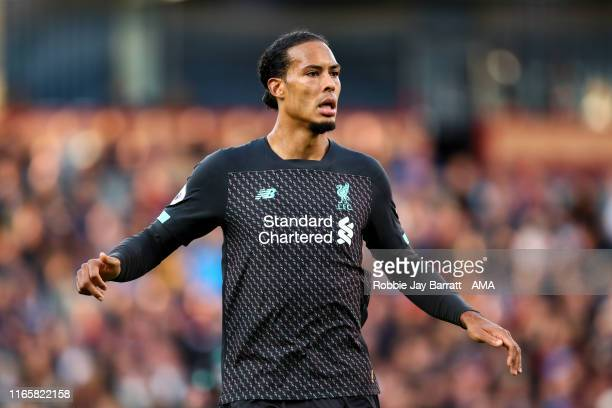 Virgil Van Dijk of Liverpool during the Premier League match between Burnley FC and Liverpool FC at Turf Moor on August 31 2019 in Burnley United...