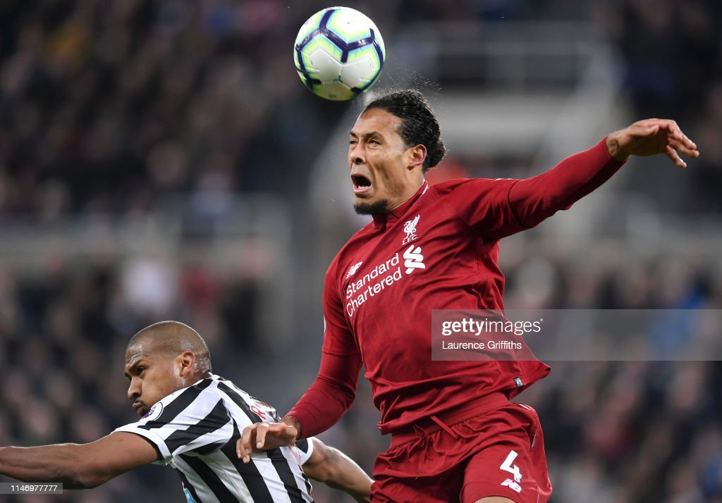 Virgil Van Dijk Of Liverpool Wins A Header From Salomon Rondon Of News Photo Getty Images