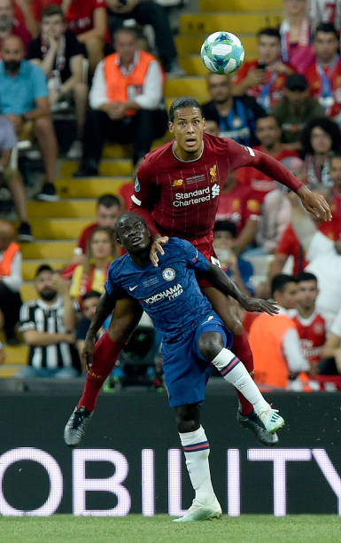 SUPER COUPE EUROPE UEFA 2019 Virgil-van-dijk-of-liverpool-with-ngolo-kante-of-chelsea-during-the-picture-id1168051148?k=6&m=1168051148&s=612x612&w=0&h=GWxpltoMhtAnCMAoOX7LdmYrpaCqLplQ5CXltzID6Vs=