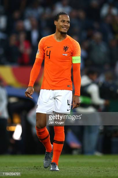 Virgil van Dijk of Netherlands during the UEFA Nations League Semi-Final match between the Netherlands and England at Estadio D. Afonso Henriques on...