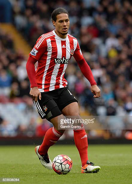 Virgil van Dijk of Southampton during the Barclays Premier League match between Aston Villa and Southampton at Villa Park on April 23 2016 in...