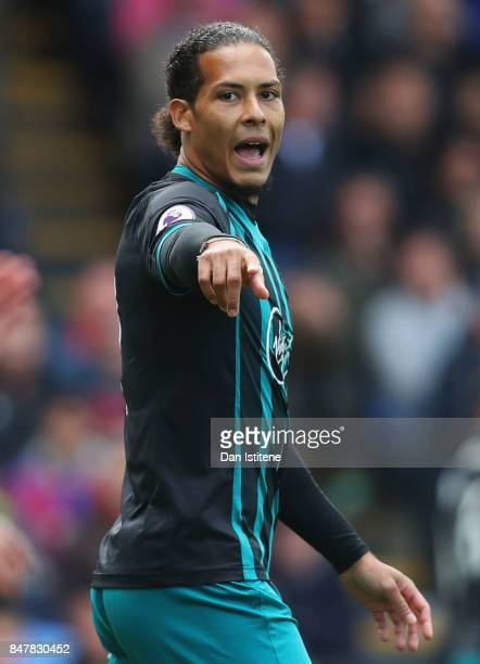 Virgil van Dijk of Southampton looks on during the Premier League match between Crystal Palace and Southampton at Selhurst Park on September 16 2017...