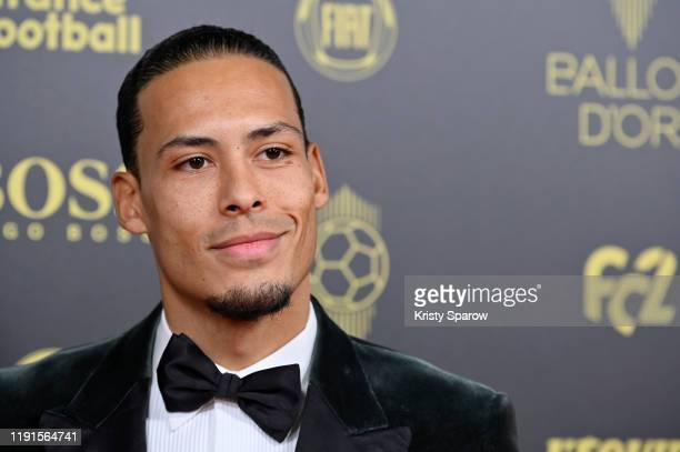 Virgil van Dijk poses on the red carpet during the Ballon D'Or Ceremony at Theatre Du Chatelet on December 02 2019 in Paris France