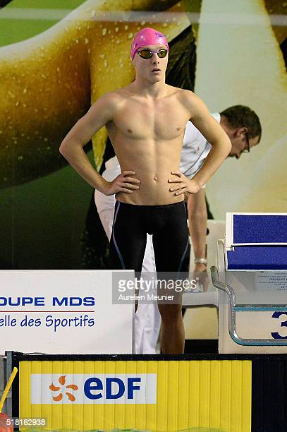 Virgile Rossillon of France prepares to compete in the 200m Men's breaststroke on day two of the French National Swimming Championships on March 30...