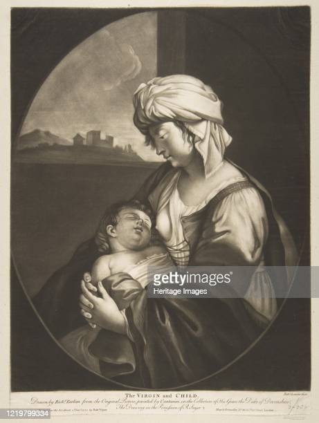 Virgin and Child, 1772. After Simone Cantarini. Artist Robert Laurie.