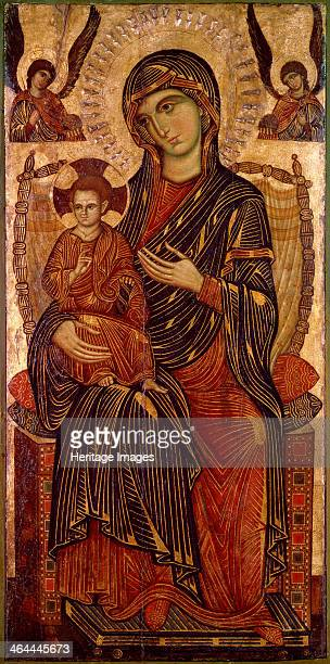 'Virgin and Child Enthroned' c1280 Found in the collection of the State A Pushkin Museum of Fine Arts Moscow