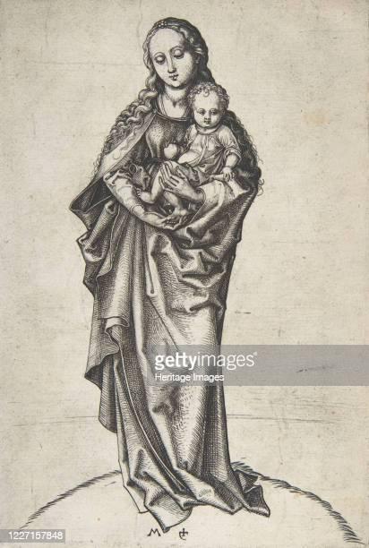 Virgin and Child with an Apple, circa 1475. Artist Martin Schongauer.