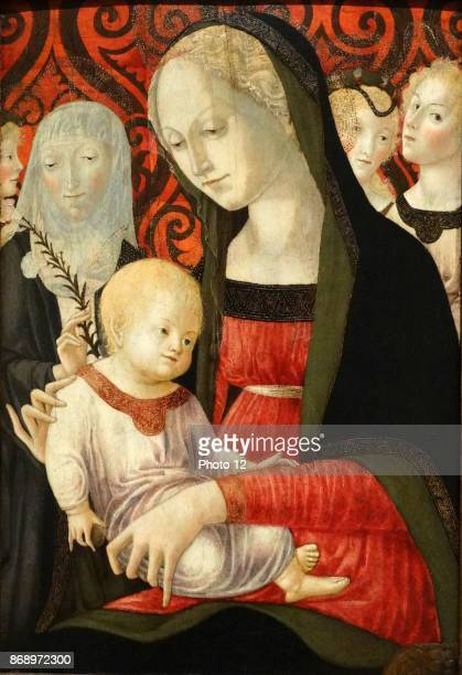Virgin and Child with Saint Catherine and angels 1490 by Francesco di Giorgio Martini oil on wood