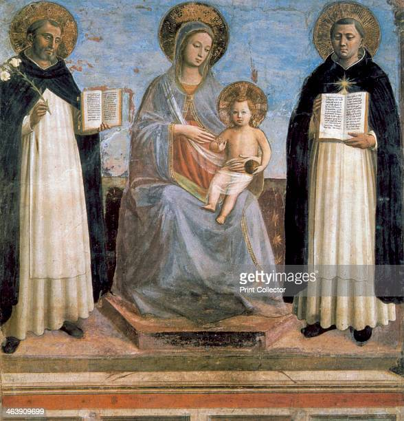 'Virgin and Child with St Anthony of Padua and St Thomas Aquinas' early 15th century St Thomas Aquinas called Doctor Angelicus Italian scholastic...