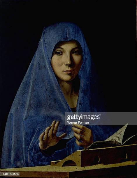 Virgin Annunciate' by Antonello da Messina , Italy. Circa 1476.