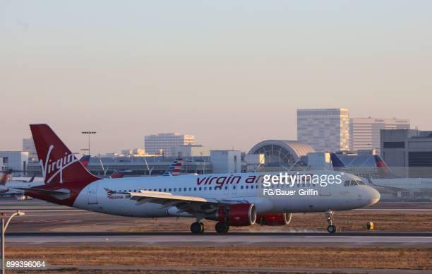 Virgin Atlantic A 320214 Airbus at Los Angeles International Airport on December 28 2017 in Los Angeles California