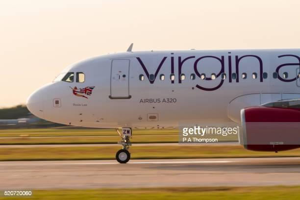 Virgin Atlantic Airbus A320 on runway