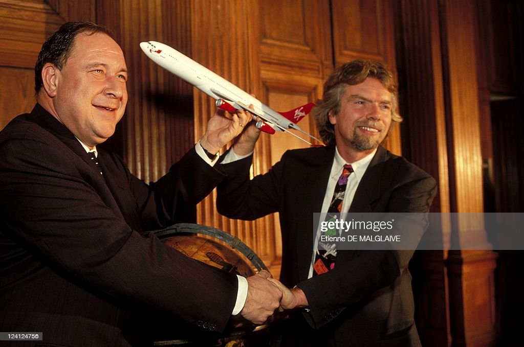 Virgin Atlantic Airways 1St Airbus A -340 Delivery In Toulouse, France On December 06, 1993. : News Photo