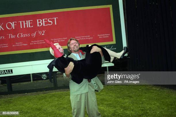 Virgin Atlantic boss Richard Branson and couturier Vivienne Westwood at the London launch of Courvoisier's Book of the Best by Lord Lichfield where...