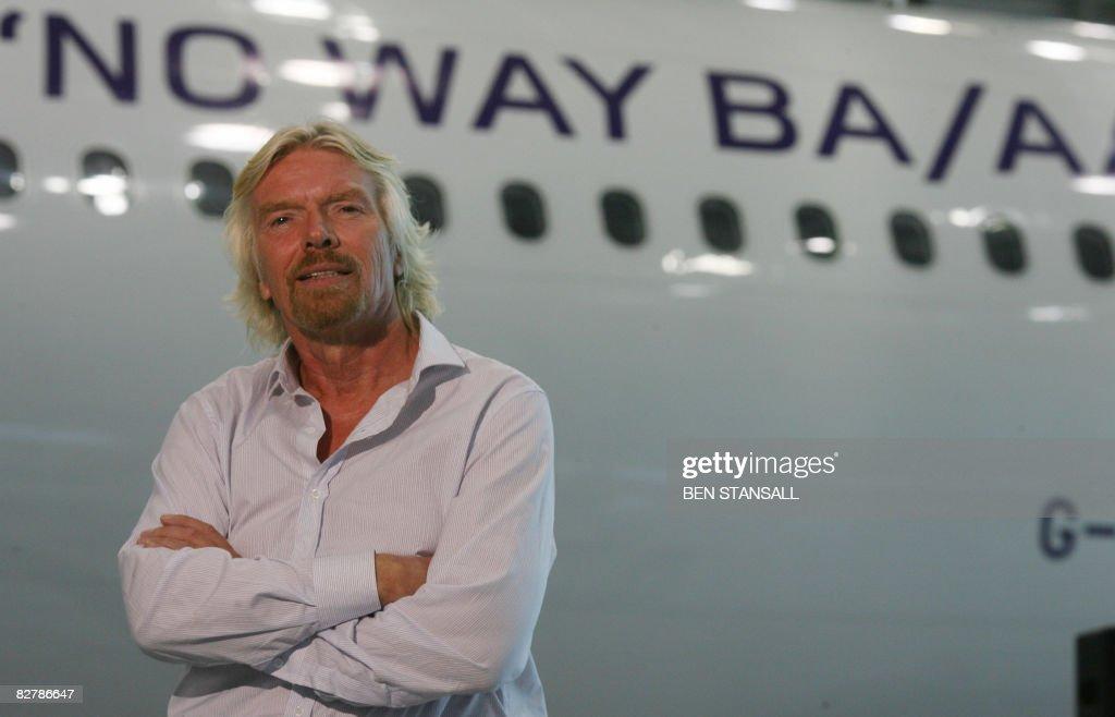 Virgin Atlantic President Richard Branso : News Photo