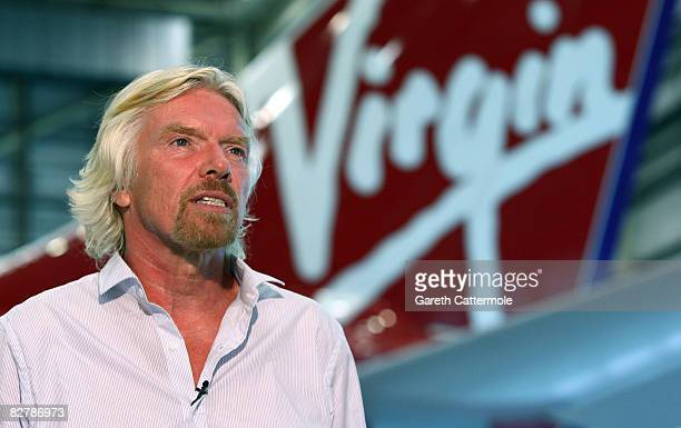 Virgin Atlantic President Sir Richard Branson speaks out against the proposed monopoly between British Airways, American Airlines and Iberia, at...