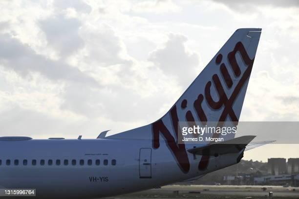 Virgin Australia Boeing 737-800 aircraft at Sydney's International Airport on May 01, 2021 in Sydney, Australia.