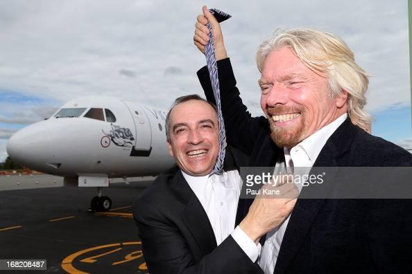 Virgin Australia Ceo John Borghetti og Sir Richard Branson Pshare A News Photo-1860