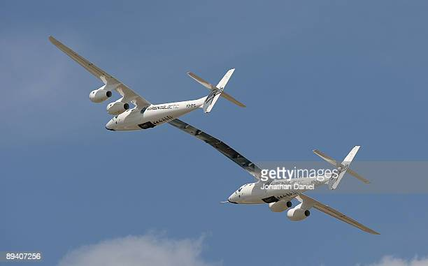 Virgin Galactic VMS Mothership Eve also known as WhiteKnightTwo a civilian carrier plane that will be used to launch the SpaceShipTwo spacecraft...
